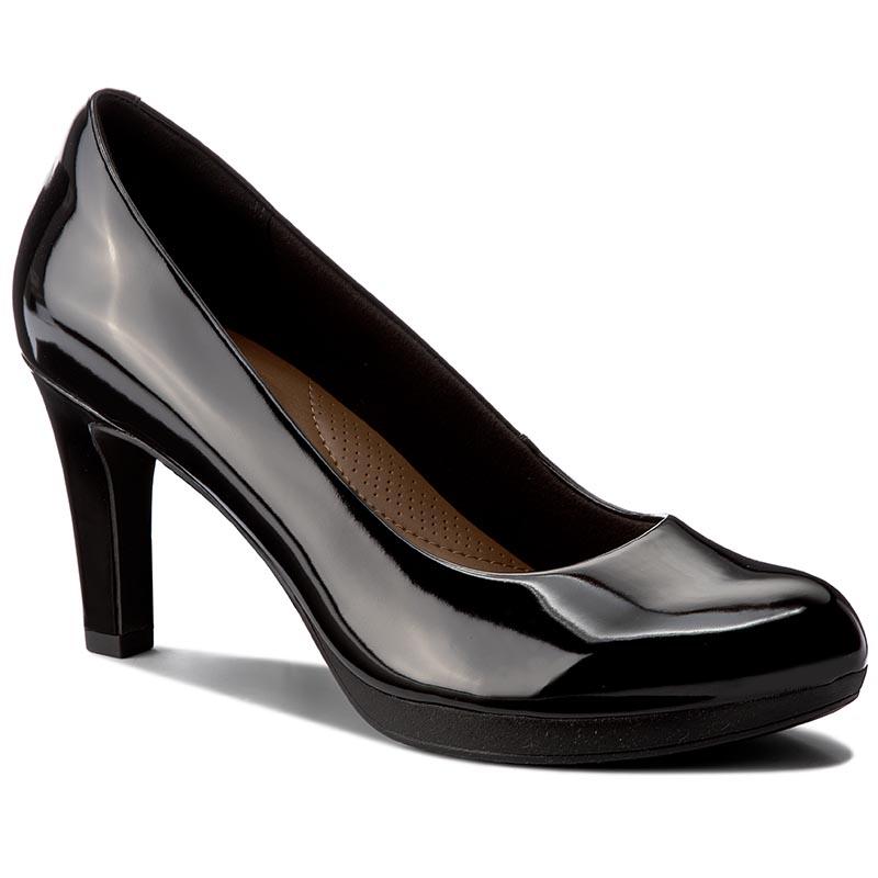 Shoes CLARKS Chorus Carol 261288194 Black Combi Heels