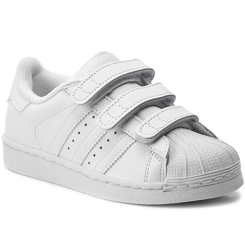 scarpe adidas superstar fondazione di c b23665 ftwwht / bopink / ftwwht