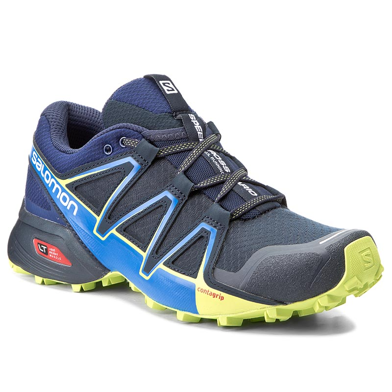 7514672518a Shoes SALOMON Speedcross Vario 2 394524 27 V0 Navy Blazer/Nautical  Blue/Lime Punch.