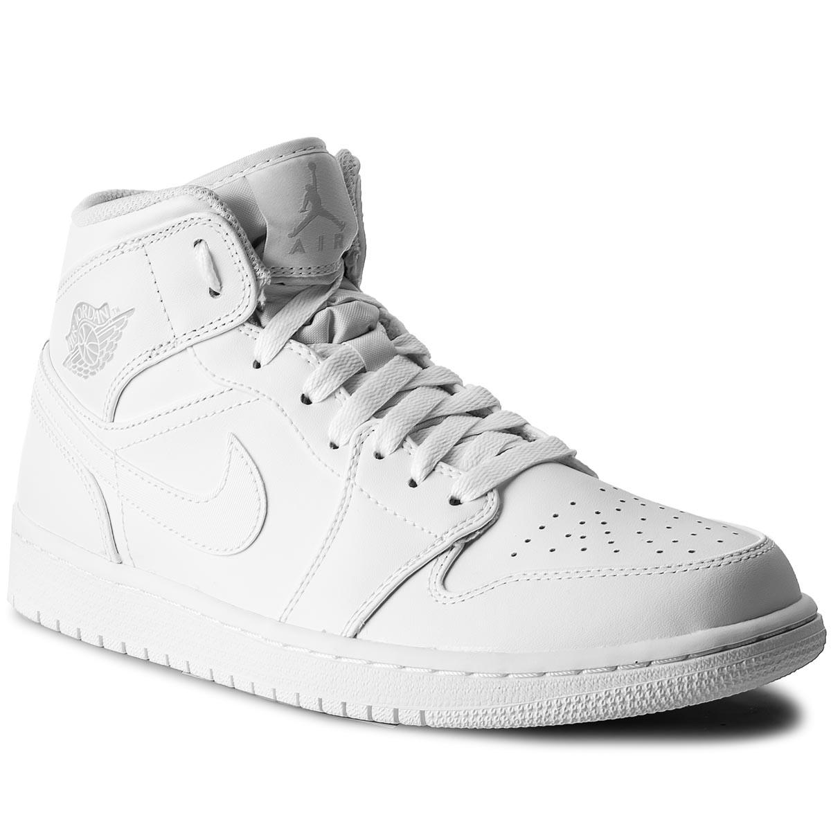 sports shoes 99bd2 300e0 Shoes NIKE Air Jordan 1 Mid 554724 104 White Pure Platinum White