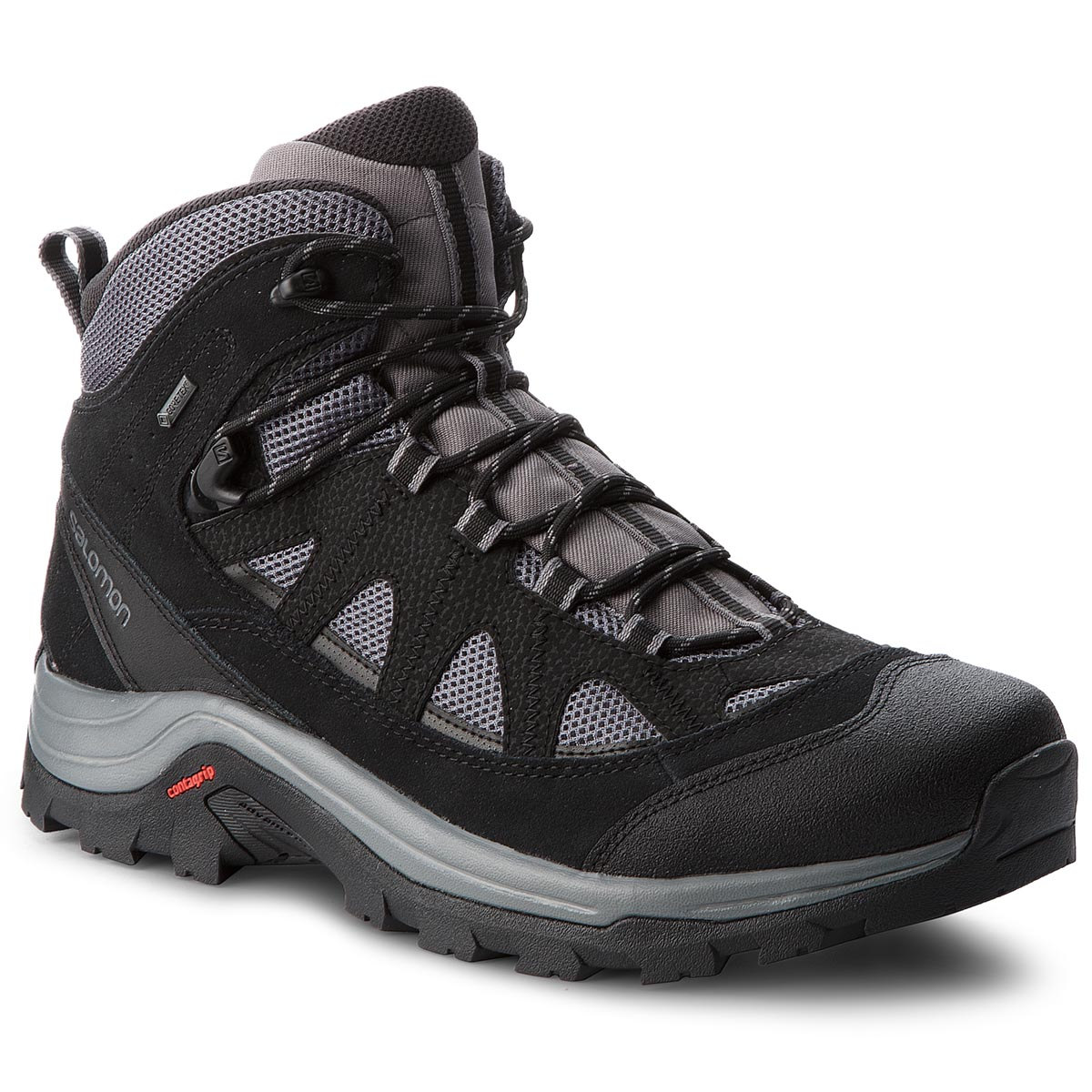 new product 952d6 877d2 Trekker Boots SALOMON Authentic Ltr Gtx GORE-TEX 404643 33 V0  Magnet Black Quiet Shade