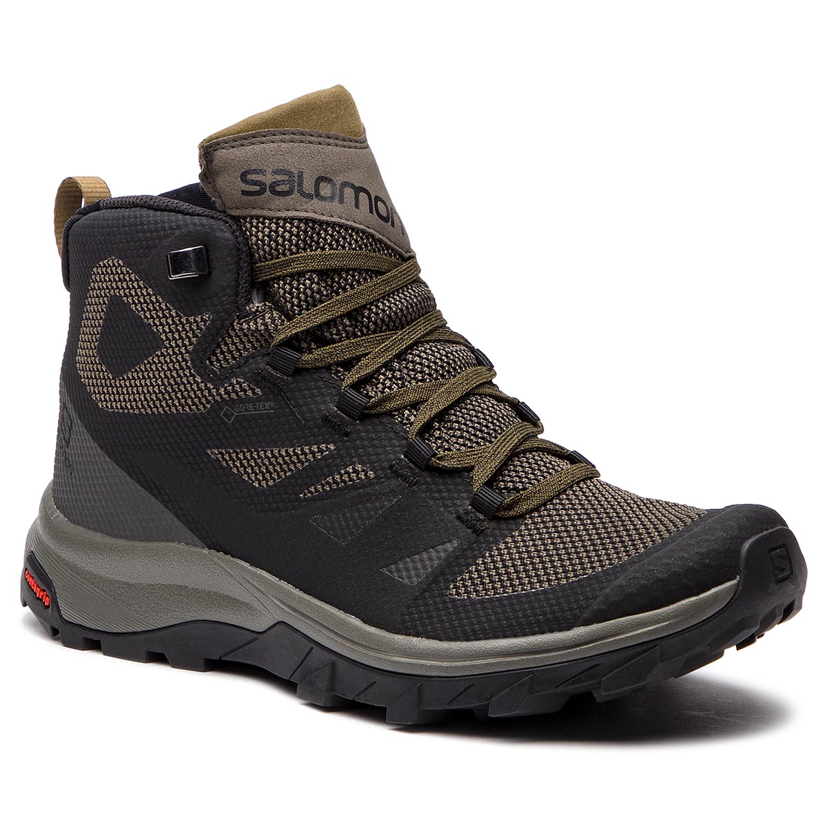 52888e69e4b6 Trekker Boots SALOMON Outline Mid Gtx GORE-TEX 404763 27 V0 Black  Beluga Capers