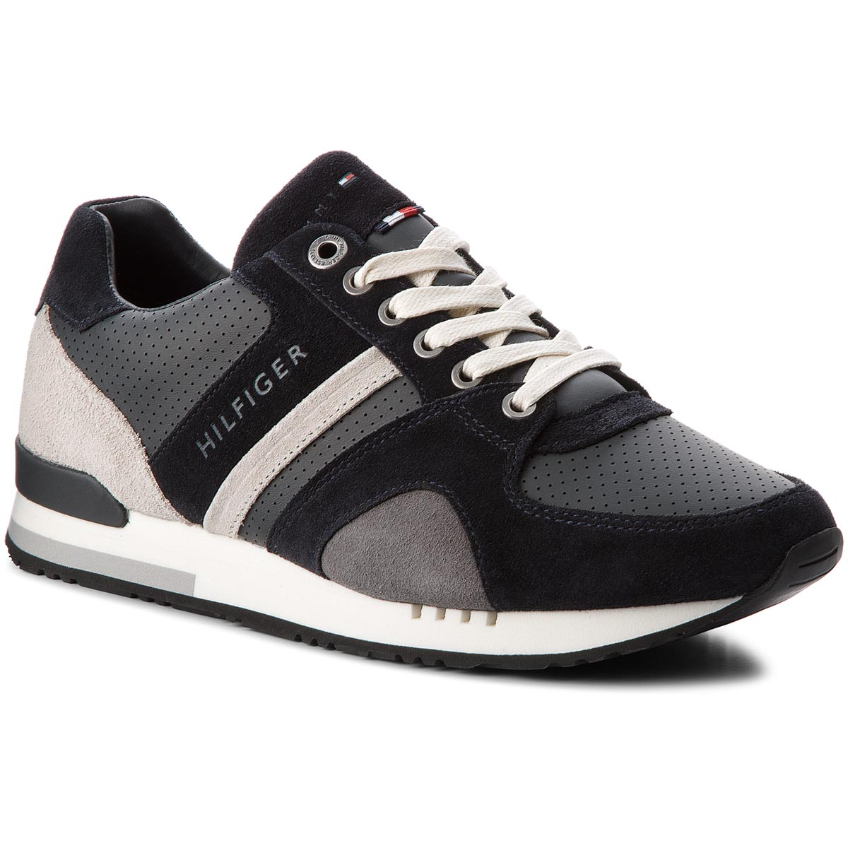 728e9af59c140 Sneakers TOMMY HILFIGER New Iconic Casual Runner FM0FM01640 Midnight 403