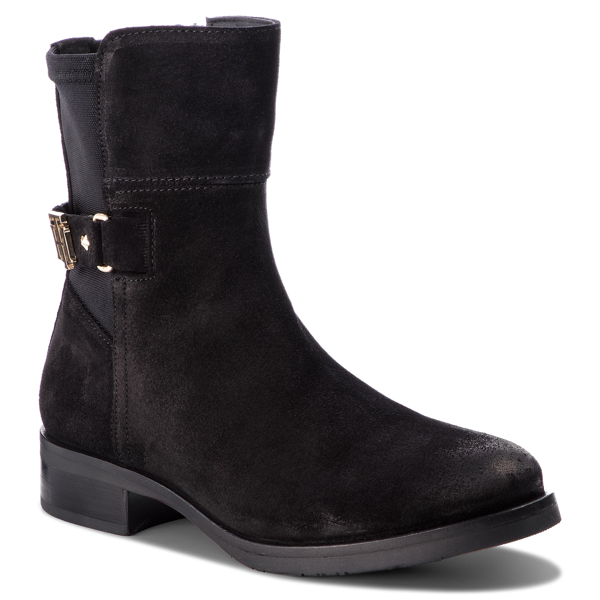 c3f125076af8 Boots TOMMY HILFIGER Th Buckle Bootie Str FW0FW03066 Black 990