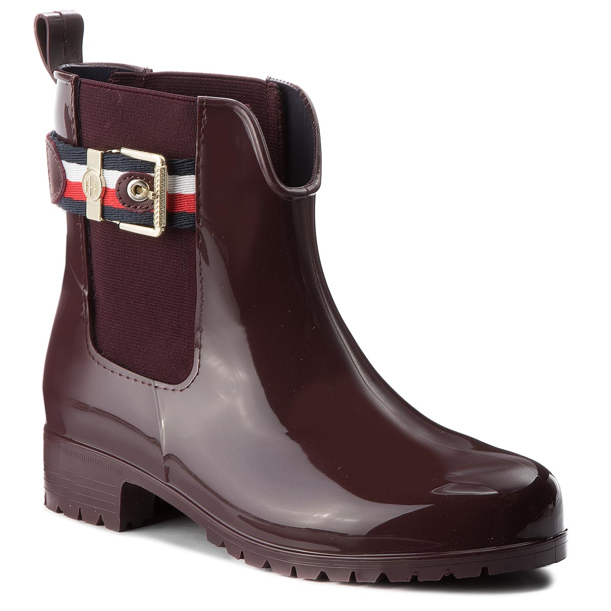 56988ccf520d Wellingtons TOMMY HILFIGER Corporate Belt Rain FW0FW03329 Decadent  Chocolate 296
