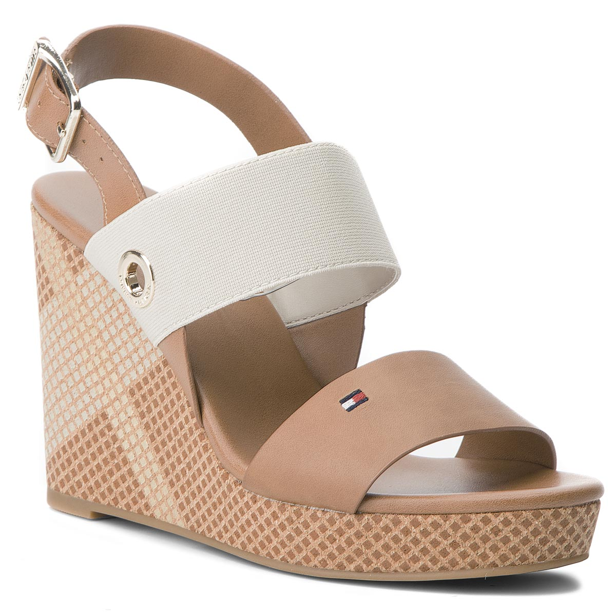 38884f6e329bb Sandals TOMMY HILFIGER Feminine High Hedge FW0FW03354 Summer Cognac 929