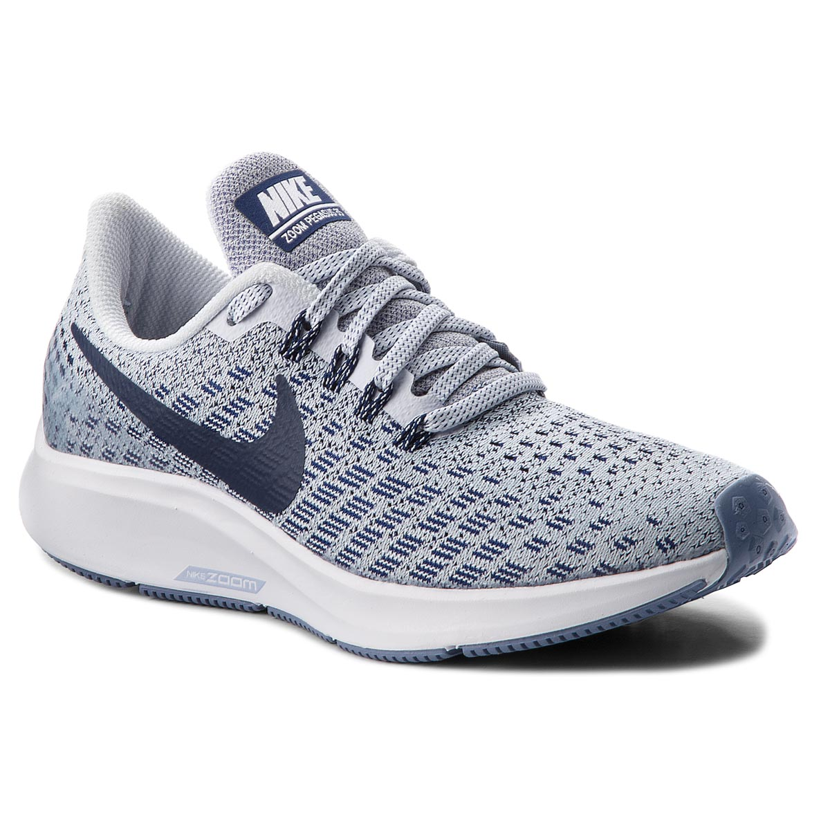 sale retailer 28f95 5545a Shoes NIKE Air Zoom Pegasus 35 942855 005 Football Grey Blue Void White