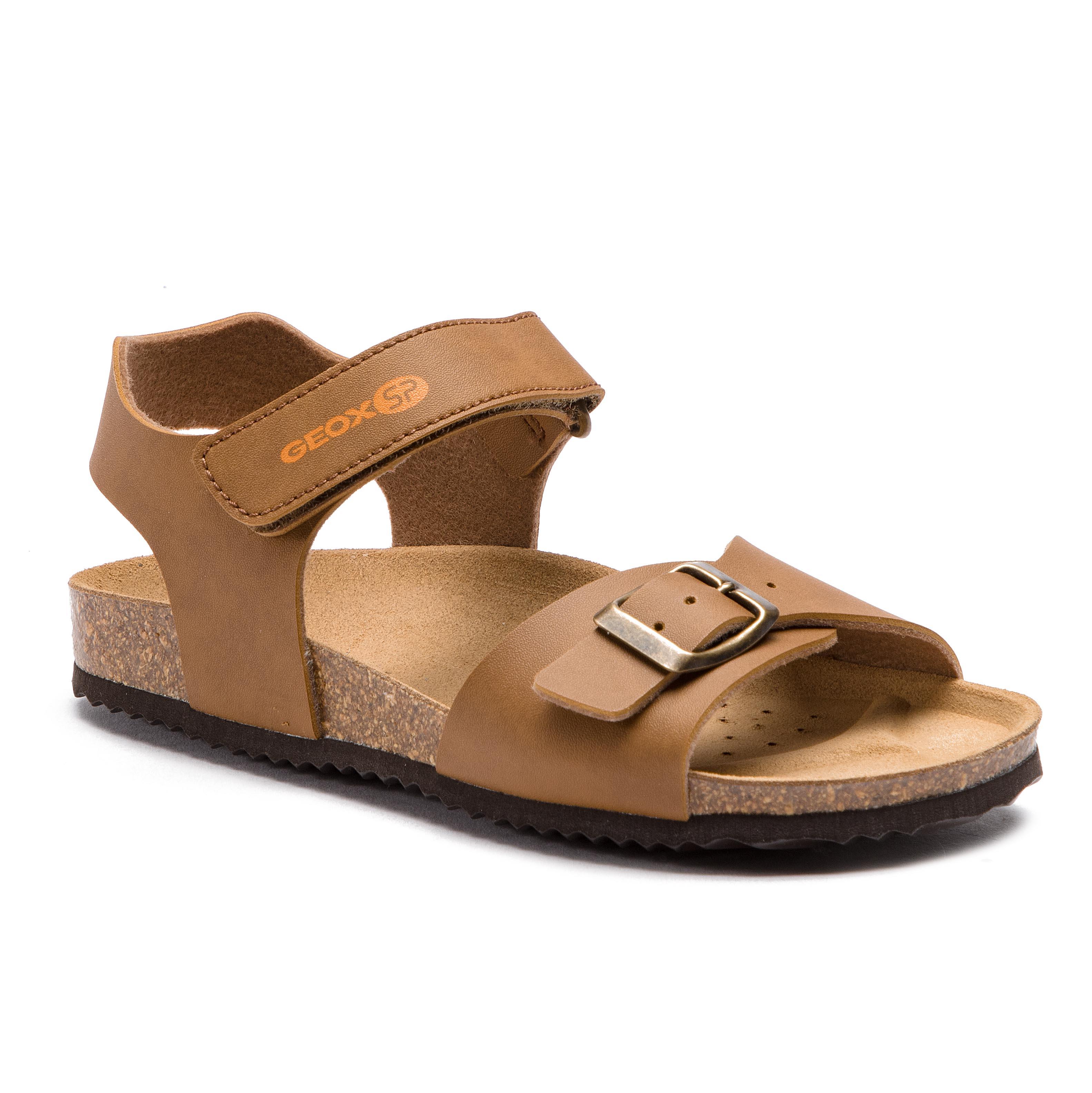 Sandals GEOX J Ghita B.A J928LA 000BC C6006 Dk Brown