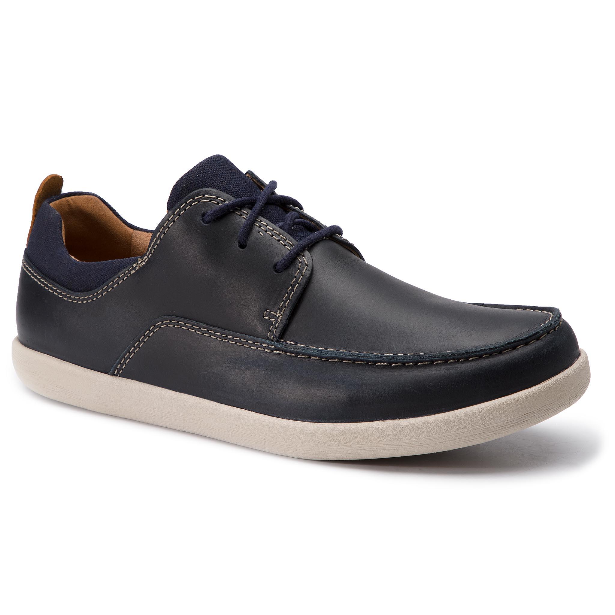Shoes CLARKS Un Lisbon Lace 261408227 Tan Combi Casual