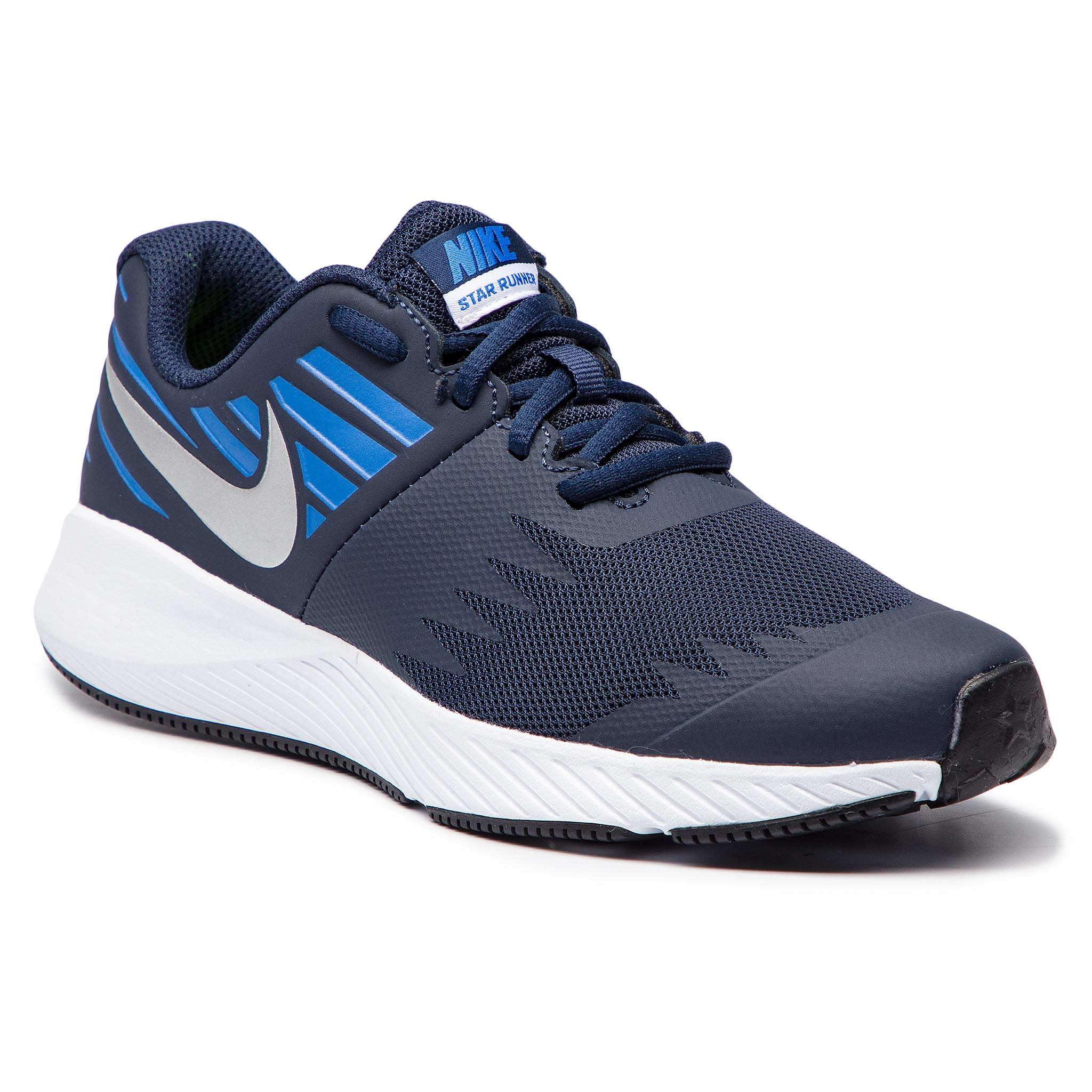 finest selection f2e6a cb930 Shoes NIKE Star Runner (GS) 907254 406 Obsidian Metakkic Silver
