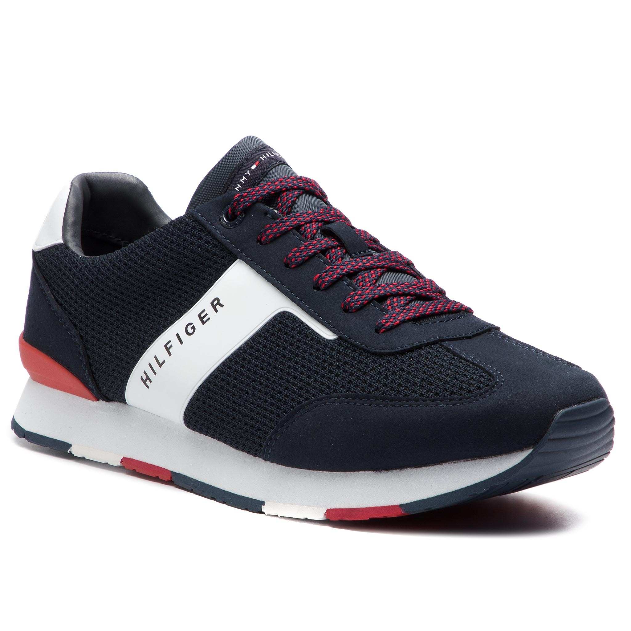 97b4c2321 Sneakers TOMMY HILFIGER - Knitted Material Mix Runner FM0FM01956 ...