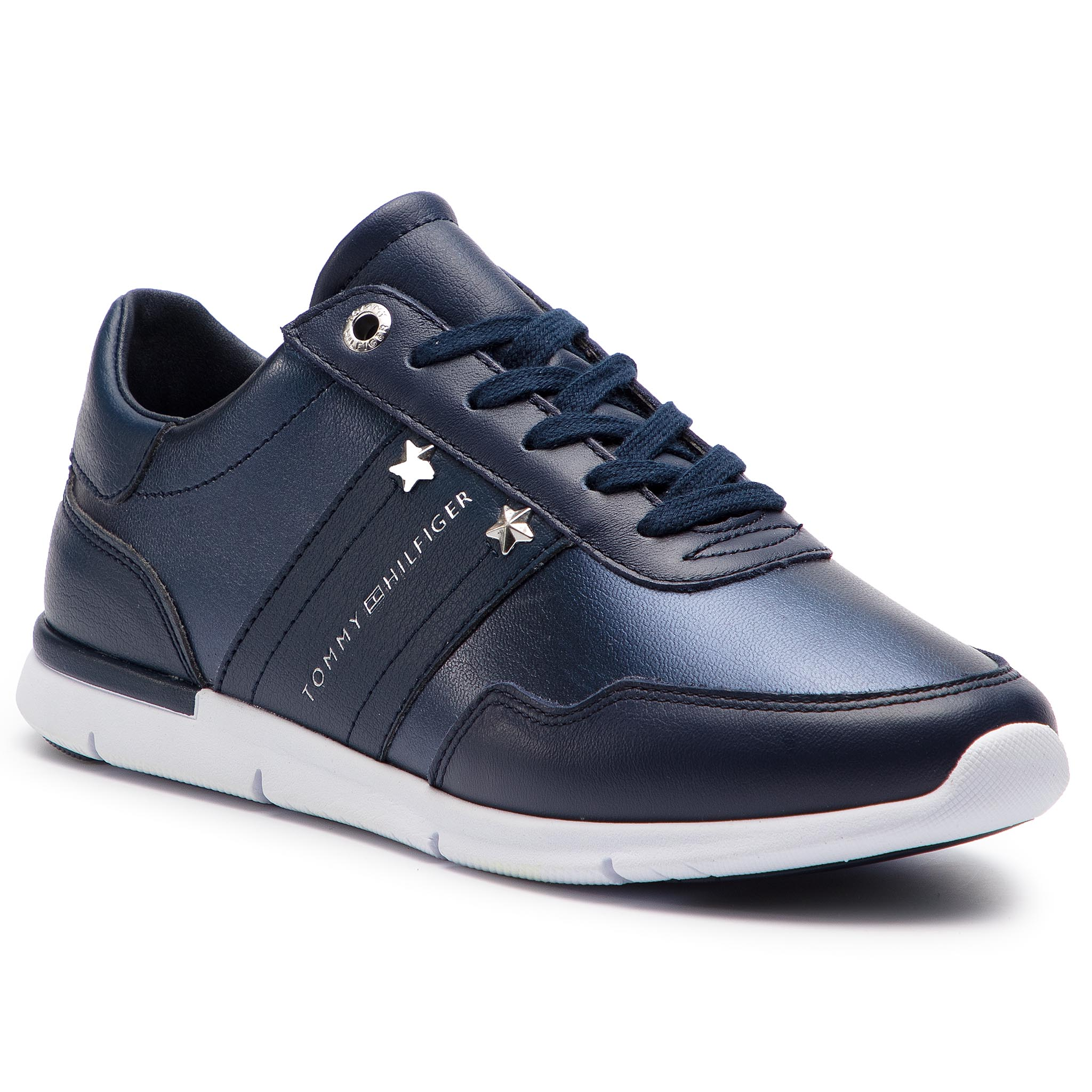 4303d1e30da54 Sneakers TOMMY HILFIGER Tommy Essential Leather Sneaker FW0FW03688 Tommy  Navy 406