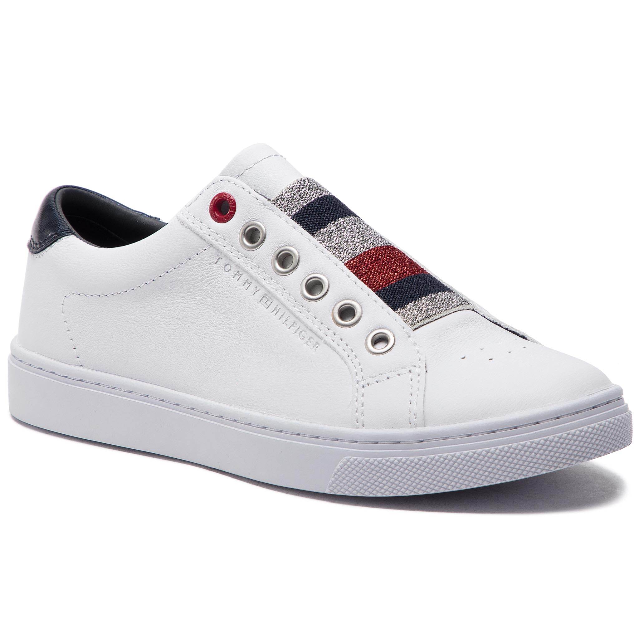 127c53d0ada4f Sneakers TOMMY HILFIGER Tommy Elastic Essential Sneaker FW0FW03707 White 100