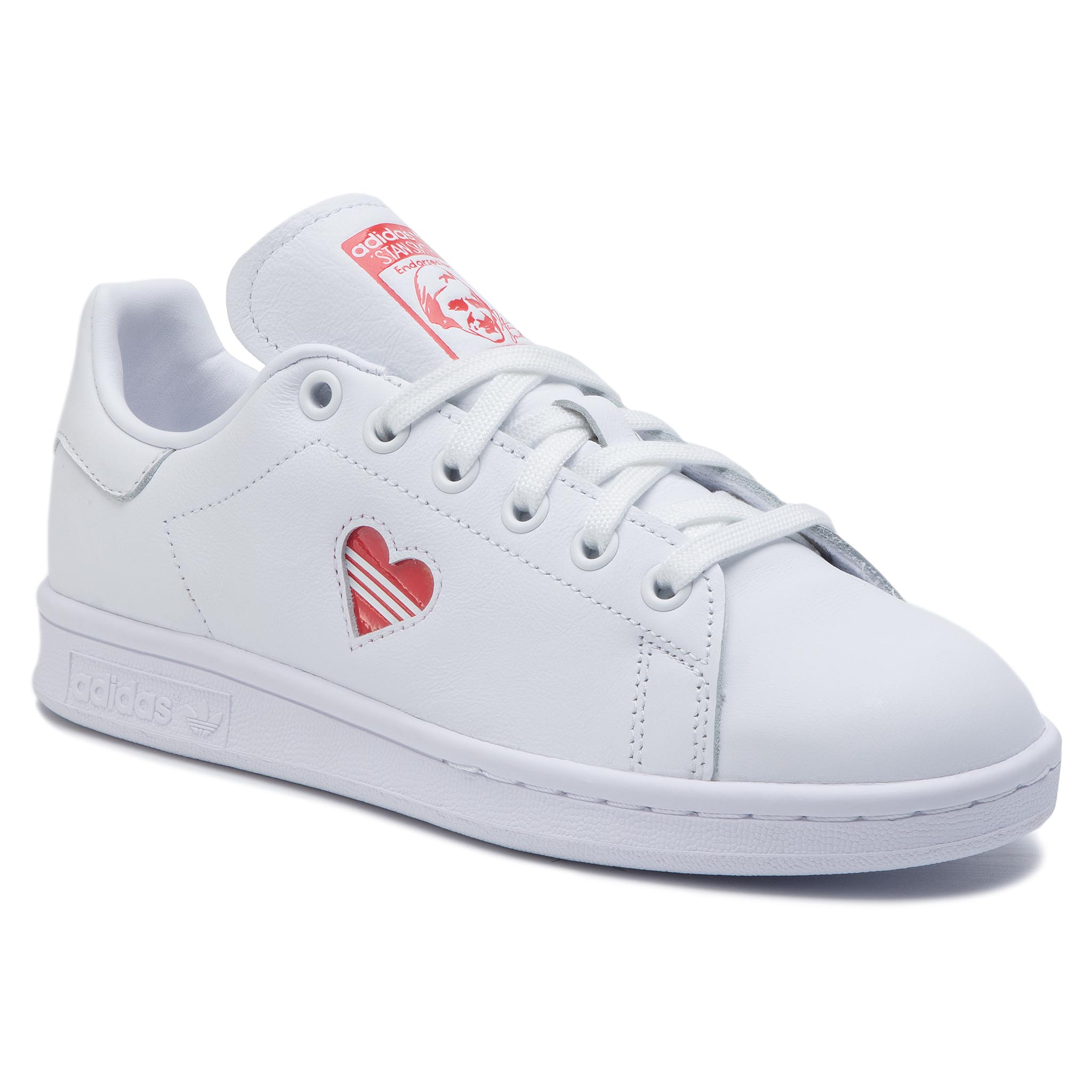 a59a7d33e8c Shoes adidas - Stan Smith B38040 Ftwwht/Ftwwht/Foxred - Sneakers ...