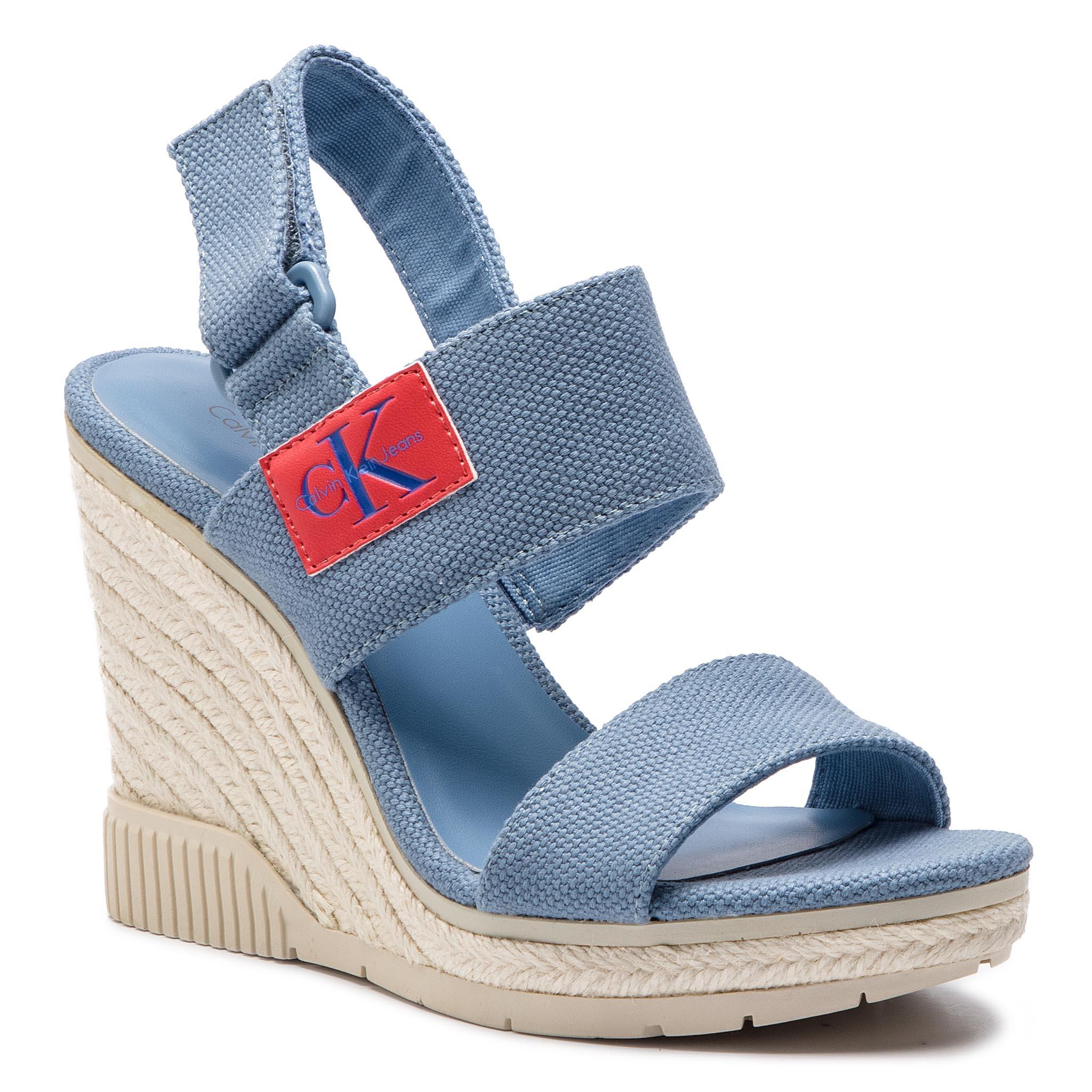 db06807974a Sandals CALVIN KLEIN - Yelena N11400 Soft White - Casual sandals ...