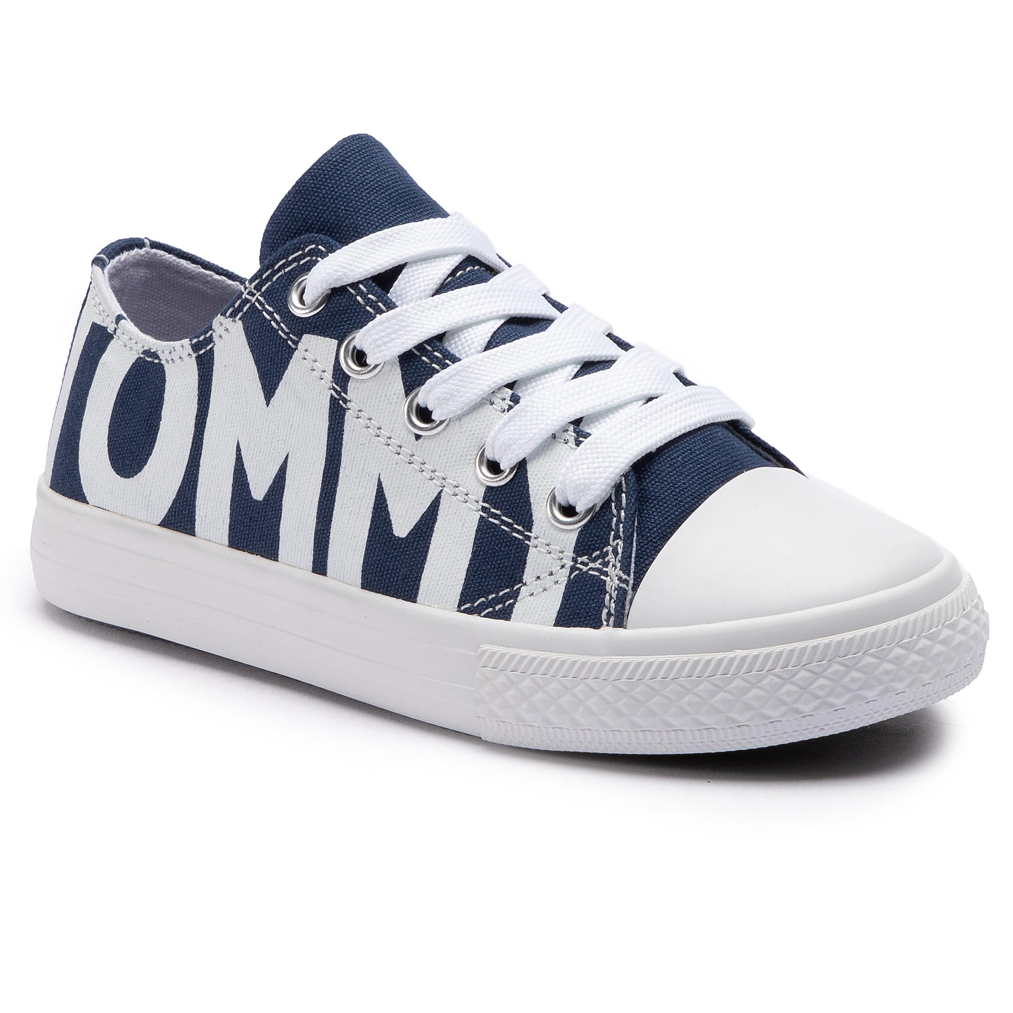 ffad5205c262 Sneakers TOMMY HILFIGER Low Cut Lace-Up Sneaker T3B4-30274-0618 Blue White  X007