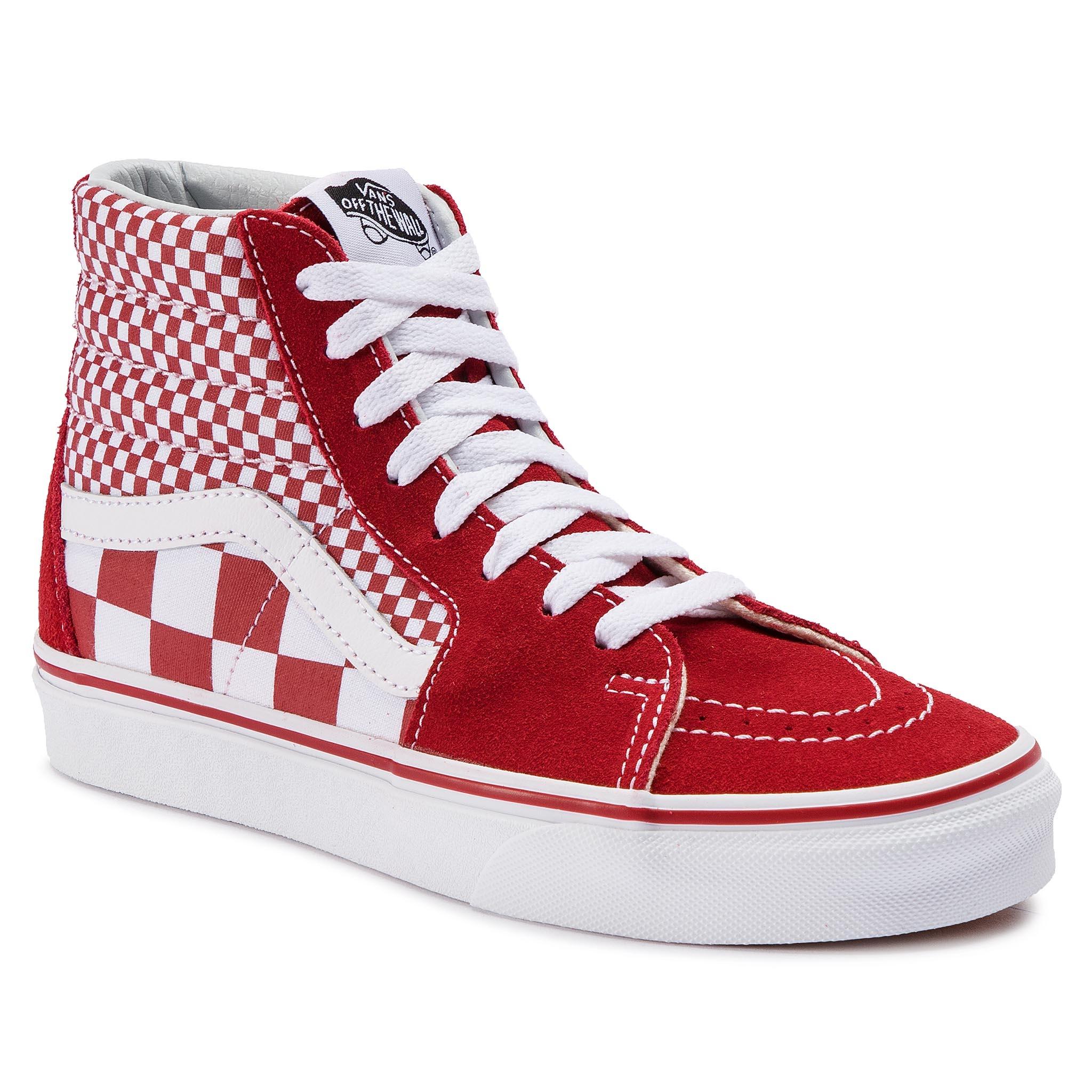 92a8a21313 Sneakers VANS Sk8-Hi VN0A38GEVK51 (Mix Checker) CHili Pepper True White