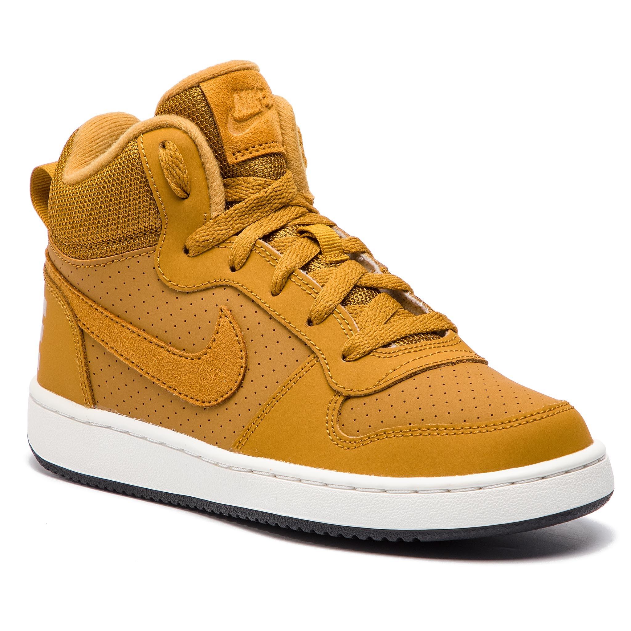 10c21242898cc Shoes NIKE Court Borough Mid (GS) 839977 701 Wheat Wheat Summit White Black