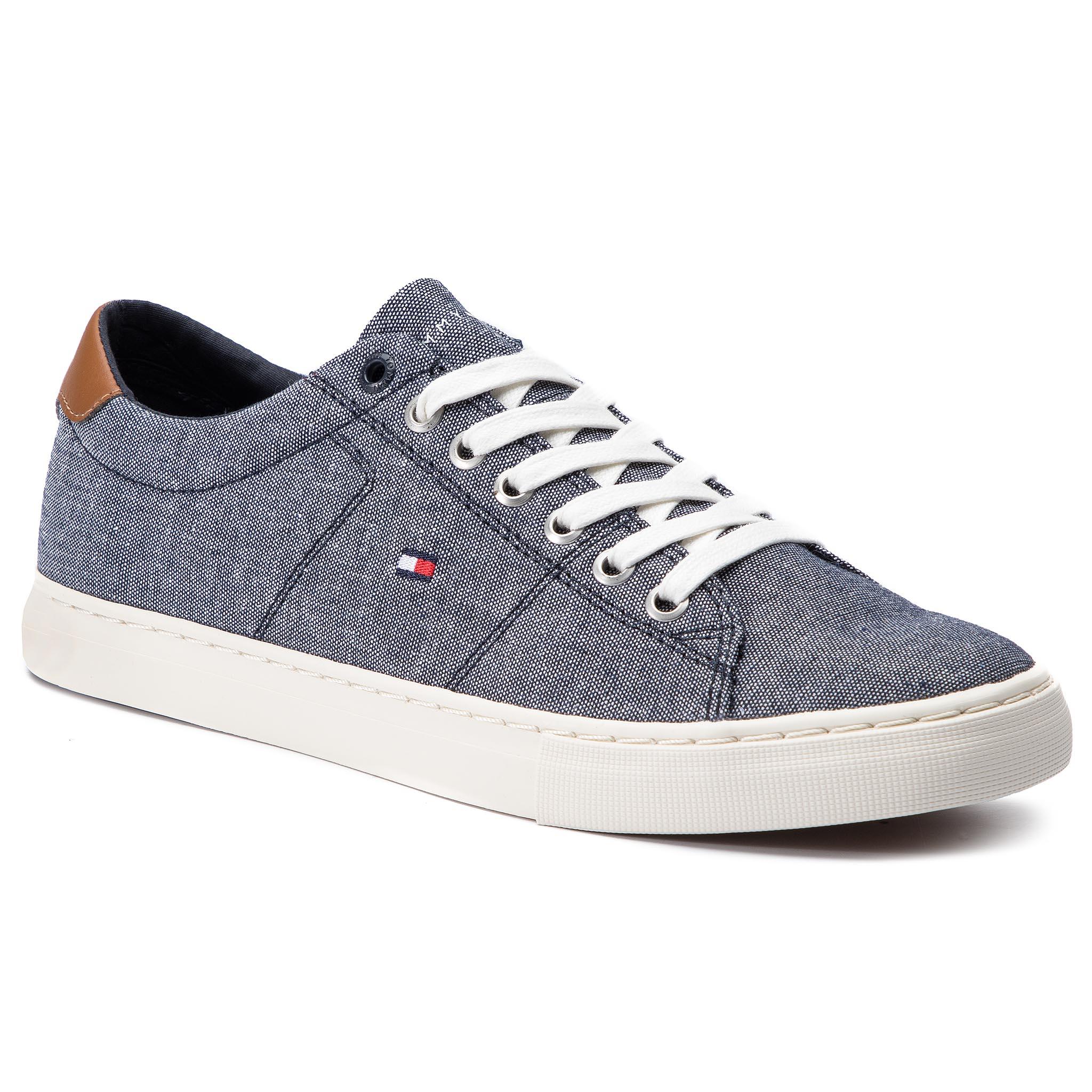 e68fd56ba2 Plimsolls TOMMY HILFIGER Seasonal Textile Sneaker FM0FM02204 Midnight 403