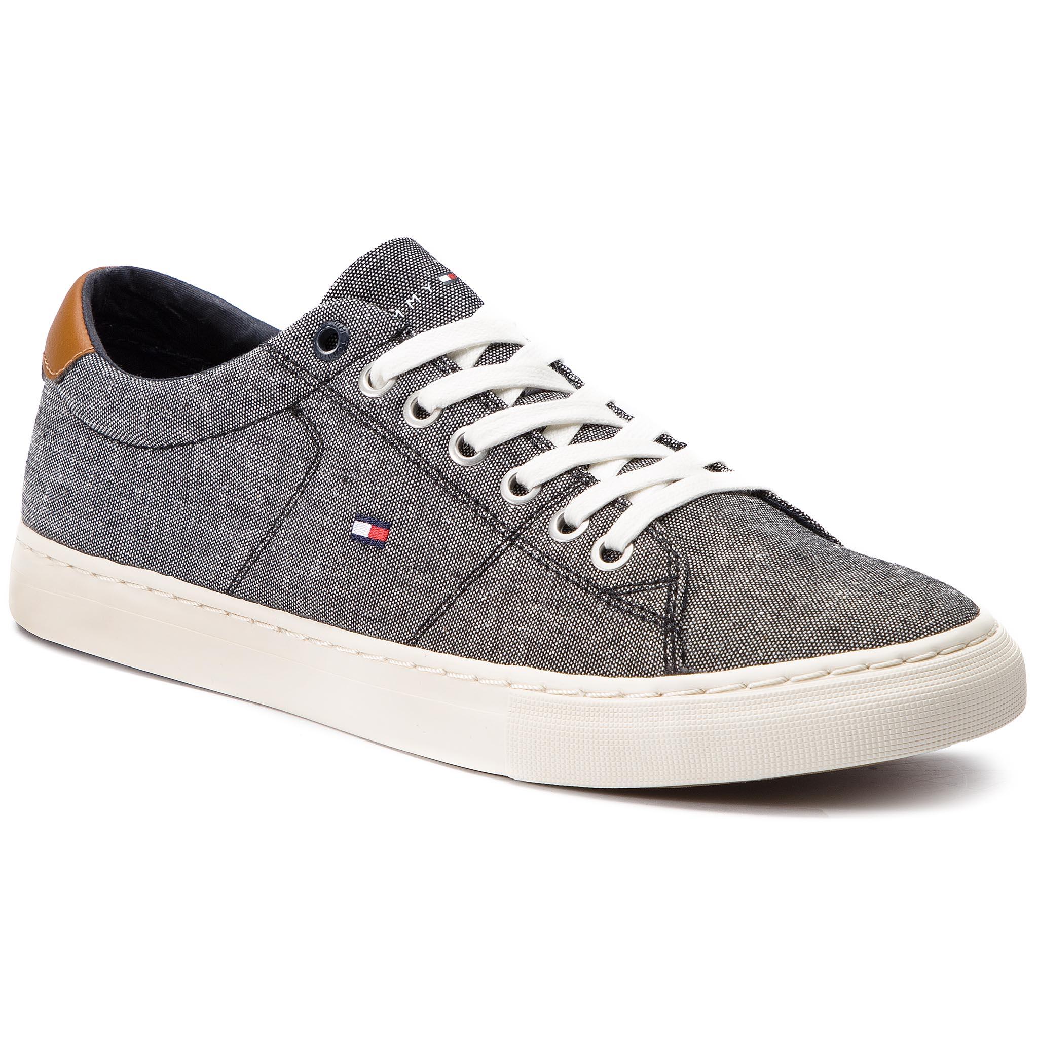 6039340b7d9a Plimsolls TOMMY HILFIGER. Iconic Long Lace Sneaker FM0FM01536 Cobblestone  068