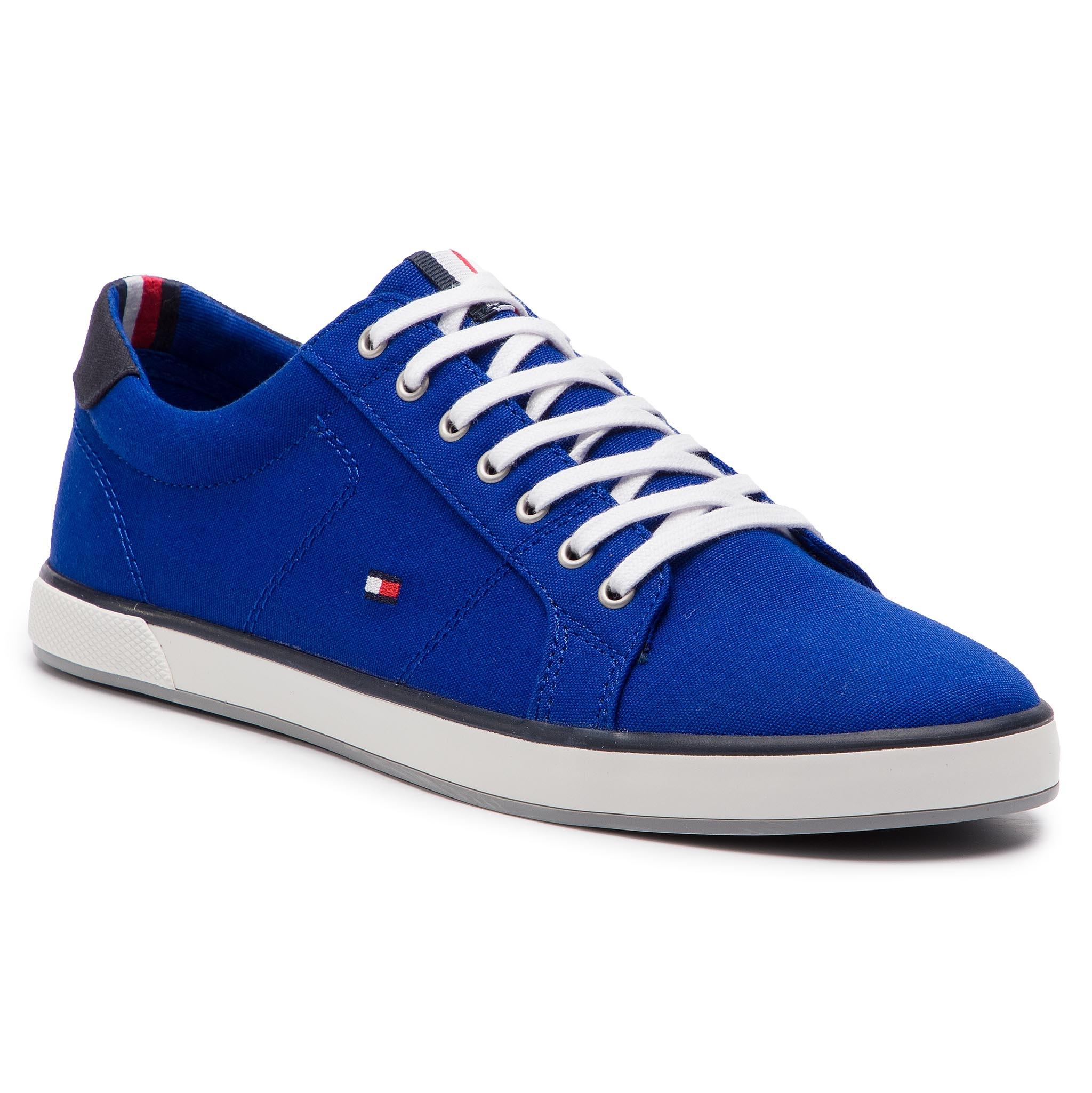 e8fd3462c798 Plimsolls TOMMY HILFIGER Iconic Long Lace Sneaker FM0FM01536 Mazarine Blue  440