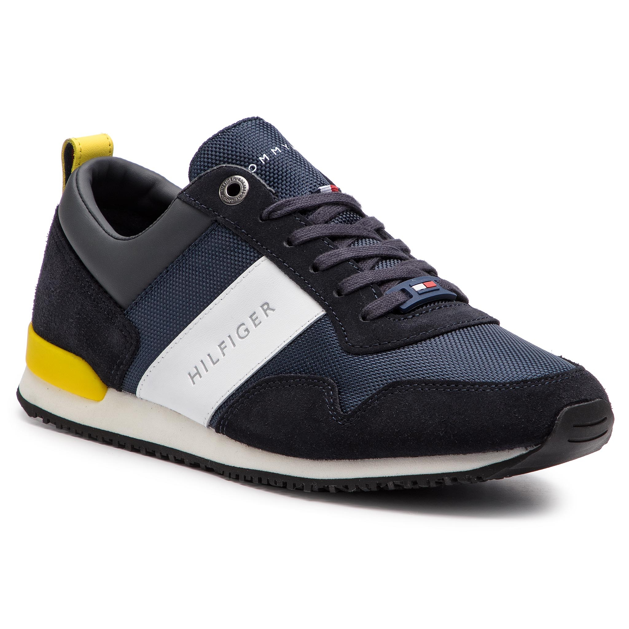 7e4dc8889dce Sneakers TOMMY HILFIGER Iconic Material Mix Runner FM0FM02042 Midnight 403