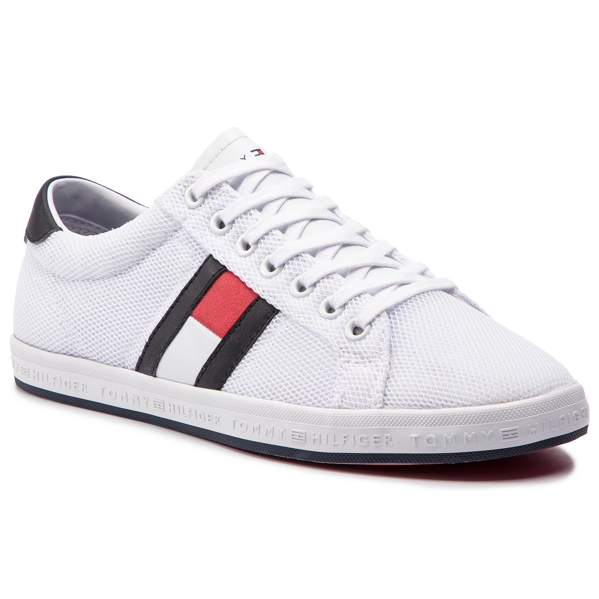 042d11923e Sneakers TOMMY HILFIGER Essential Flag Detail Sneaker FM0FM02202 White 100