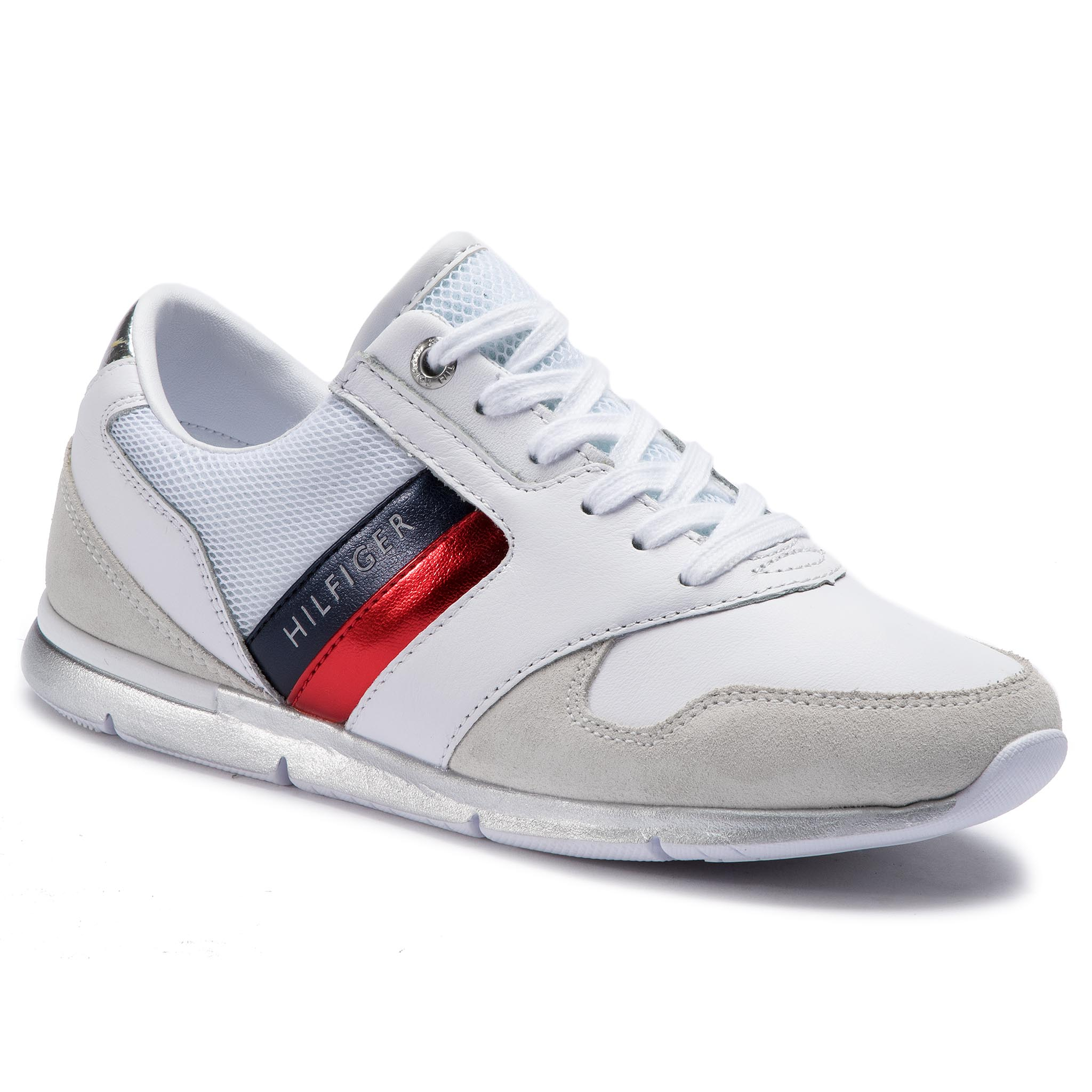 434bfc727 Sneakers TOMMY HILFIGER - Iridescent Light Sneaker FW0FW04100 White ...