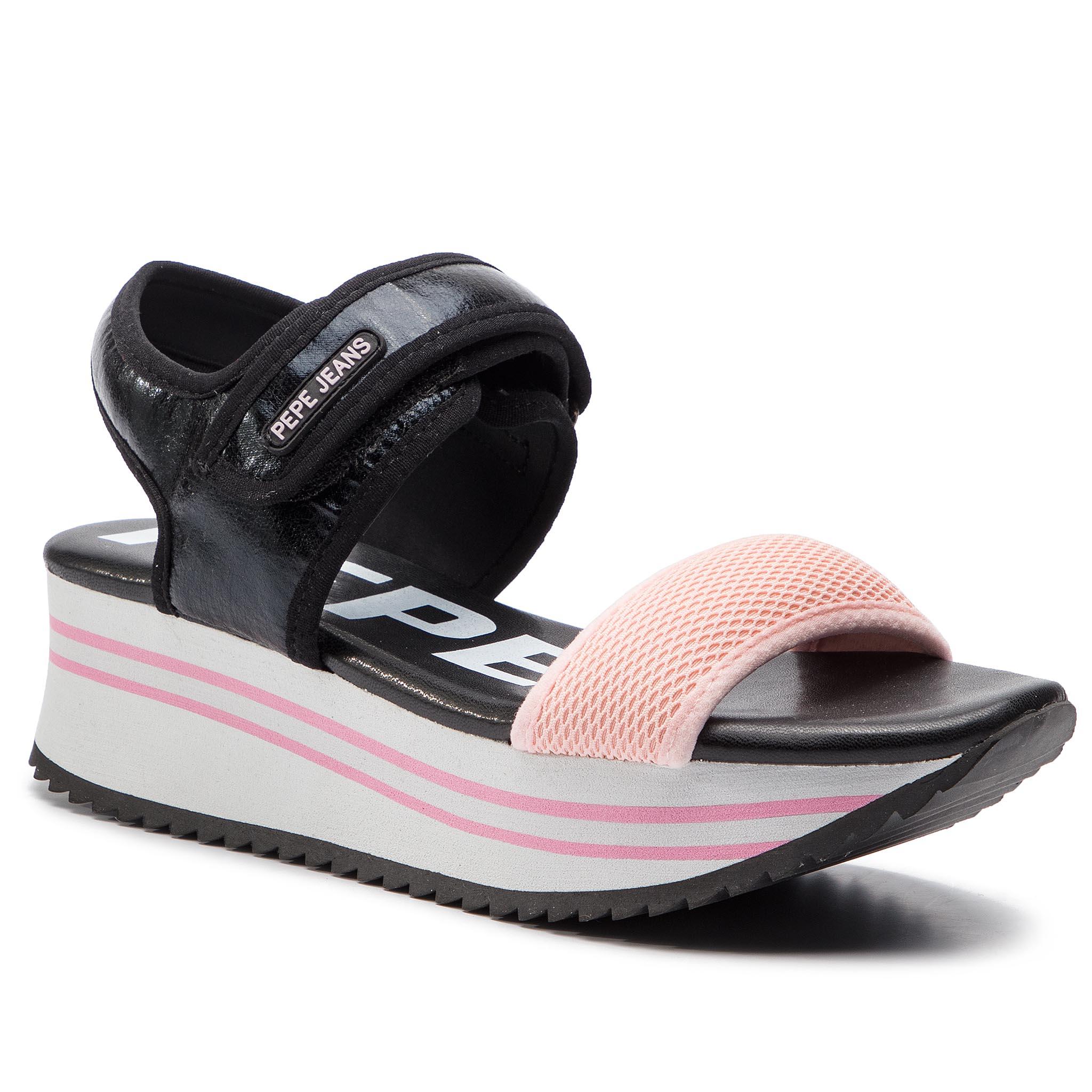Fuji Mania Sandals Jeans Mules Black Qtdsrcxbh 999 Pls90394 Wedges Pepe Yfgb6v7y