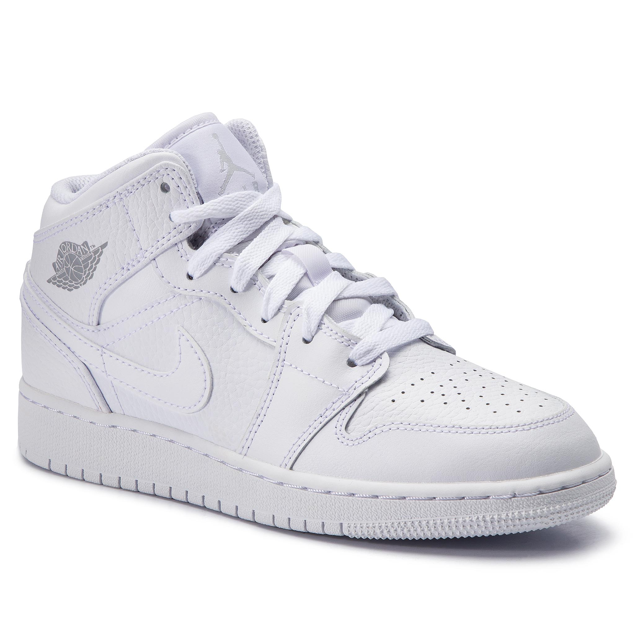 another chance 8be82 02025 Shoes NIKE Air Jordan 1 Mid (GS) 554725 109 White PurePlatinum White