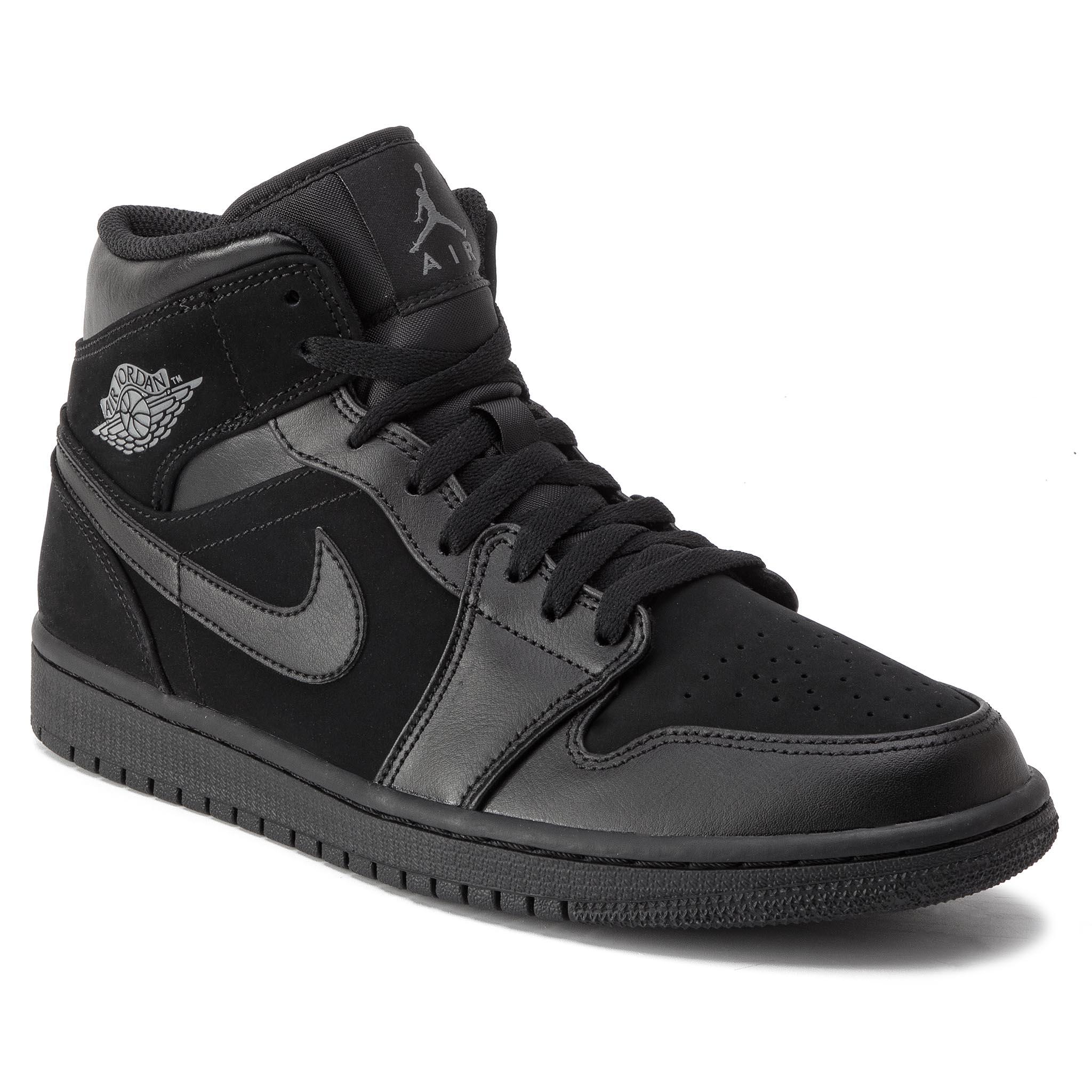 on sale 40946 1c41a Shoes NIKE Air Jordan 1 Mid 554724 050 Black Dark Grey Black