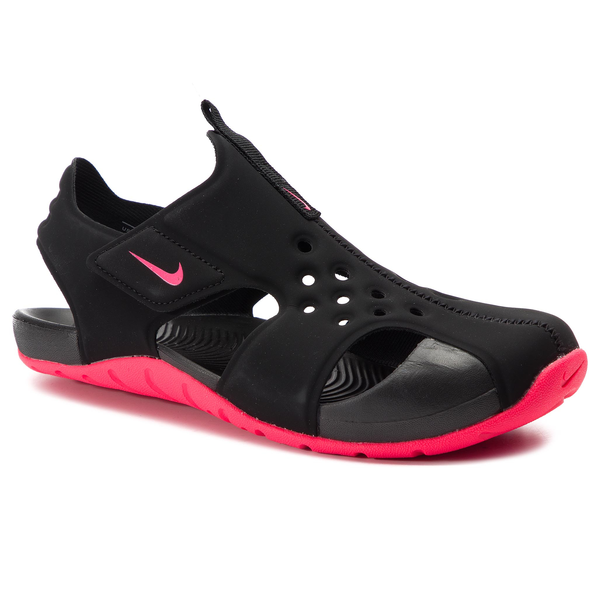 d7c12439057c Sandals NIKE - Sunray Protect 2 (TD) 943827 003 Black Racer Pink ...