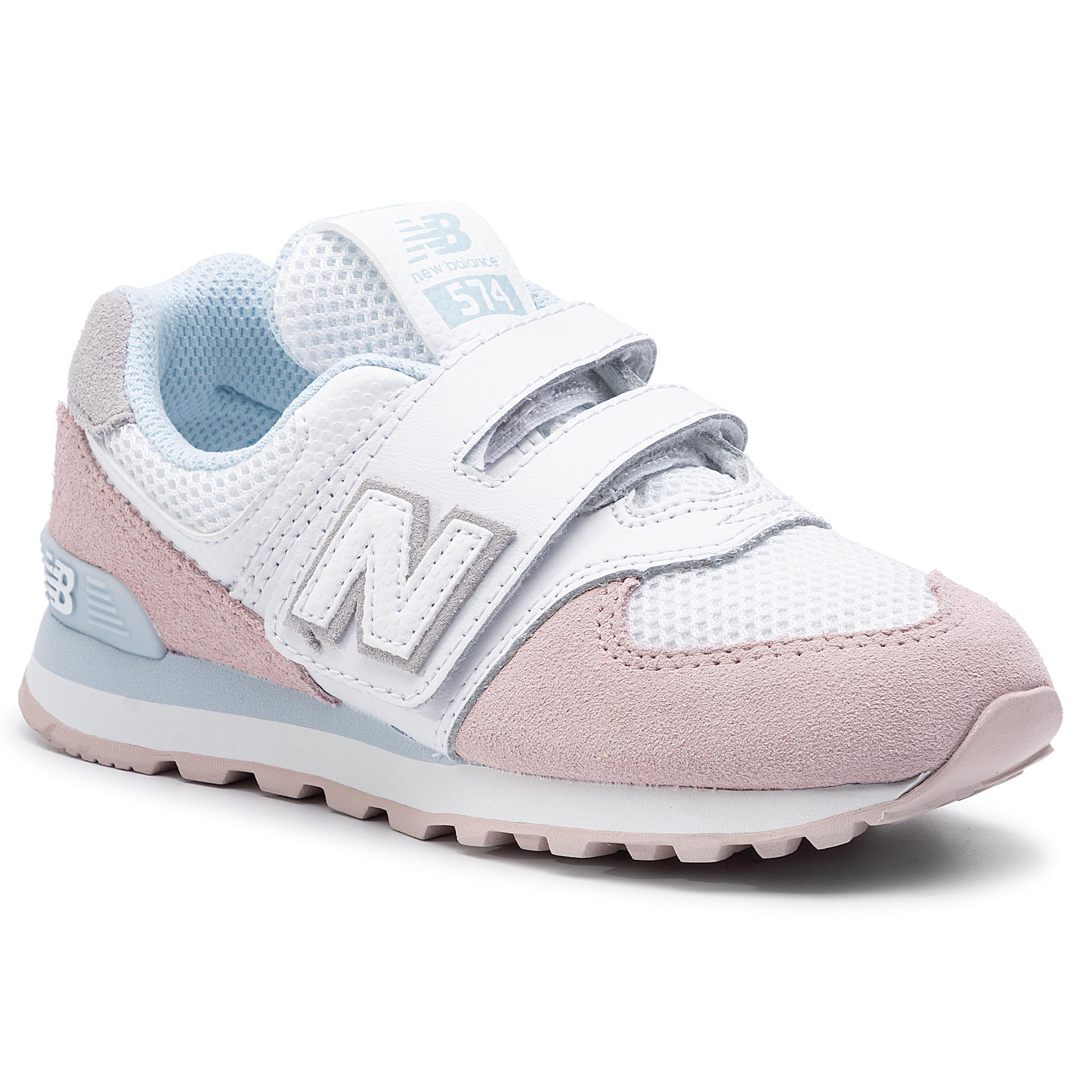 775e20ddb58d4 Sneakers NEW BALANCE - YV574UJB Pink - Velcro - Low shoes - Girl ...