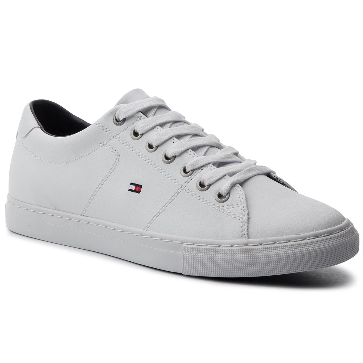 266ed1d447 Sneakers TOMMY HILFIGER Essential Leather Sneaker FM0FM02157 White 100