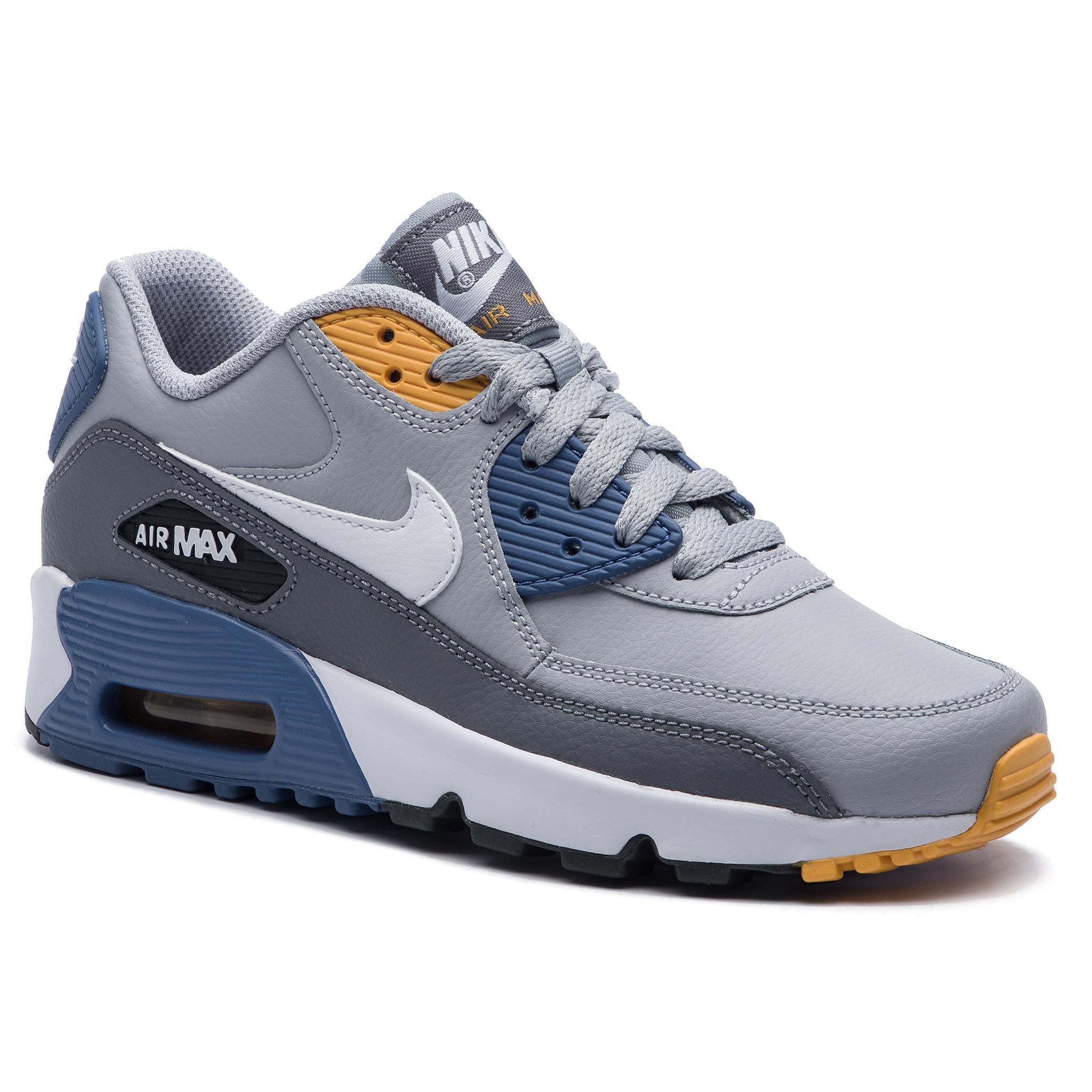 watch a0f24 a0130 Shoes NIKE Air Max 90Ltr (GS) 833412 026 Wolf Grey White Indigo Storm