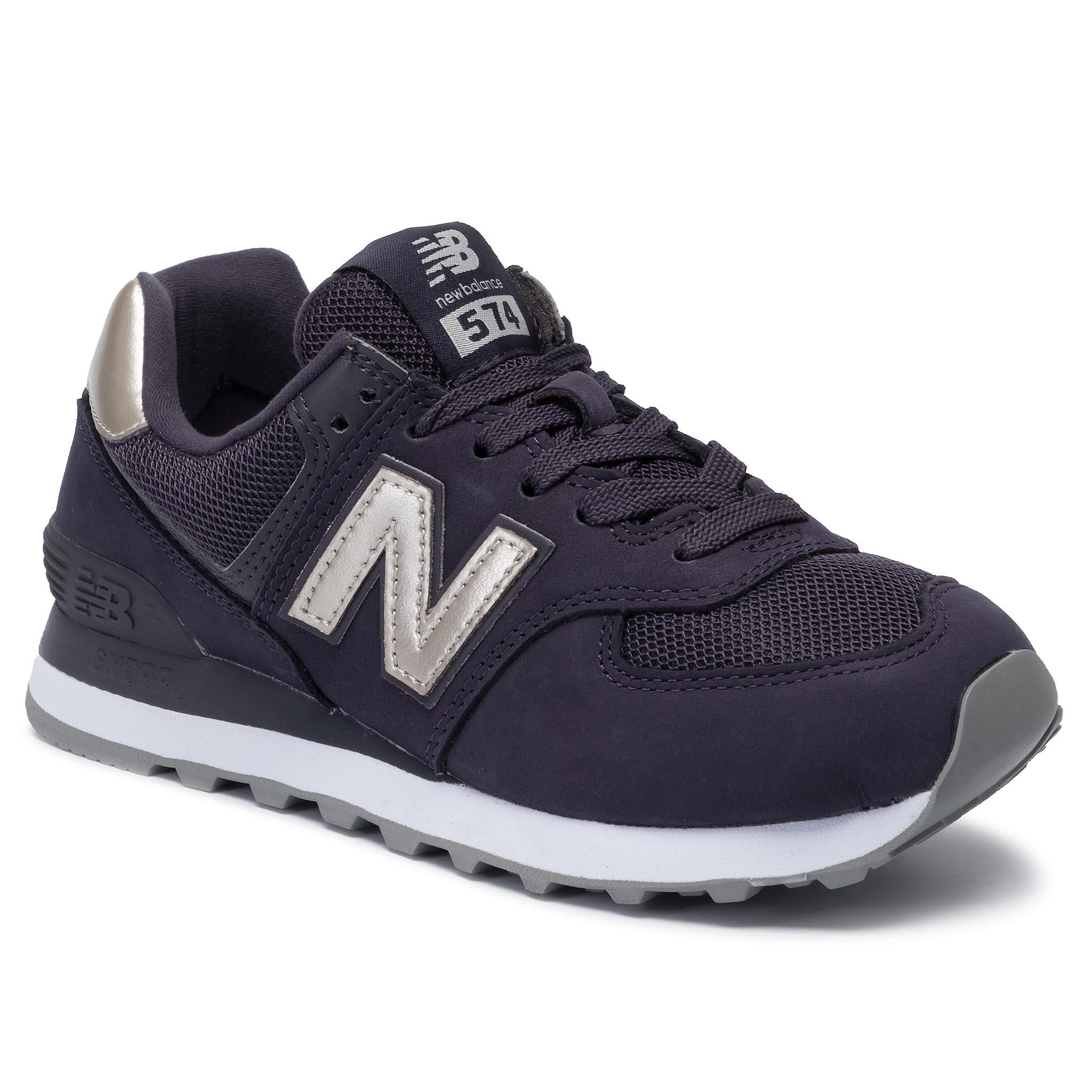 buy popular 28c8f 910d2 Sneakers NEW BALANCE - WL574KSD Navy Blue Purple - Sneakers ...