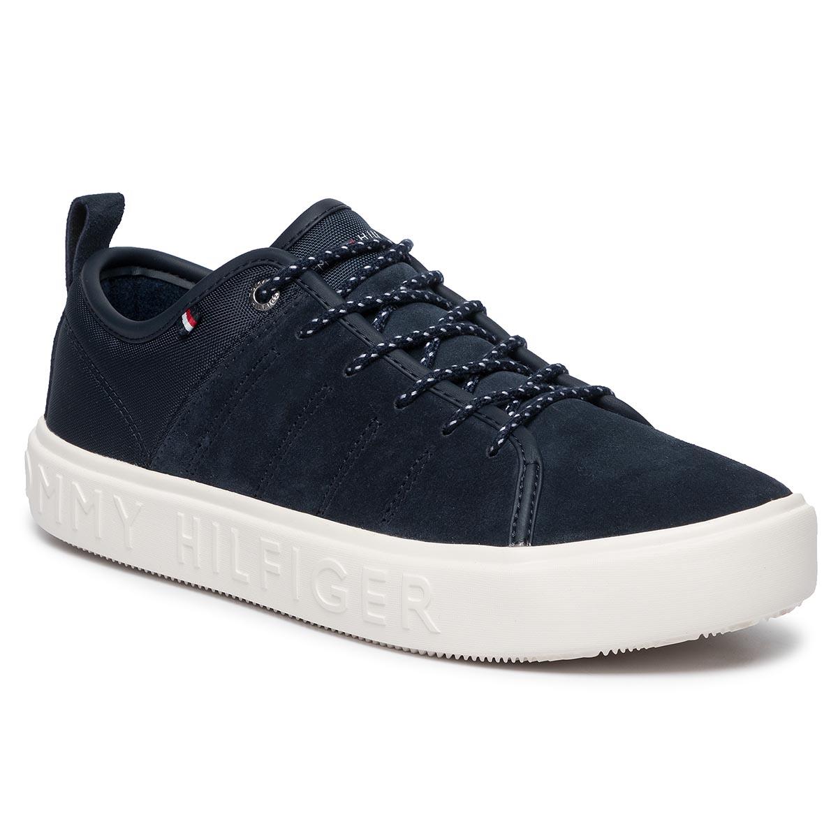Plimsolls TOMMY HILFIGER Corporate Leather Sneaker FM0FM02285 Black 950
