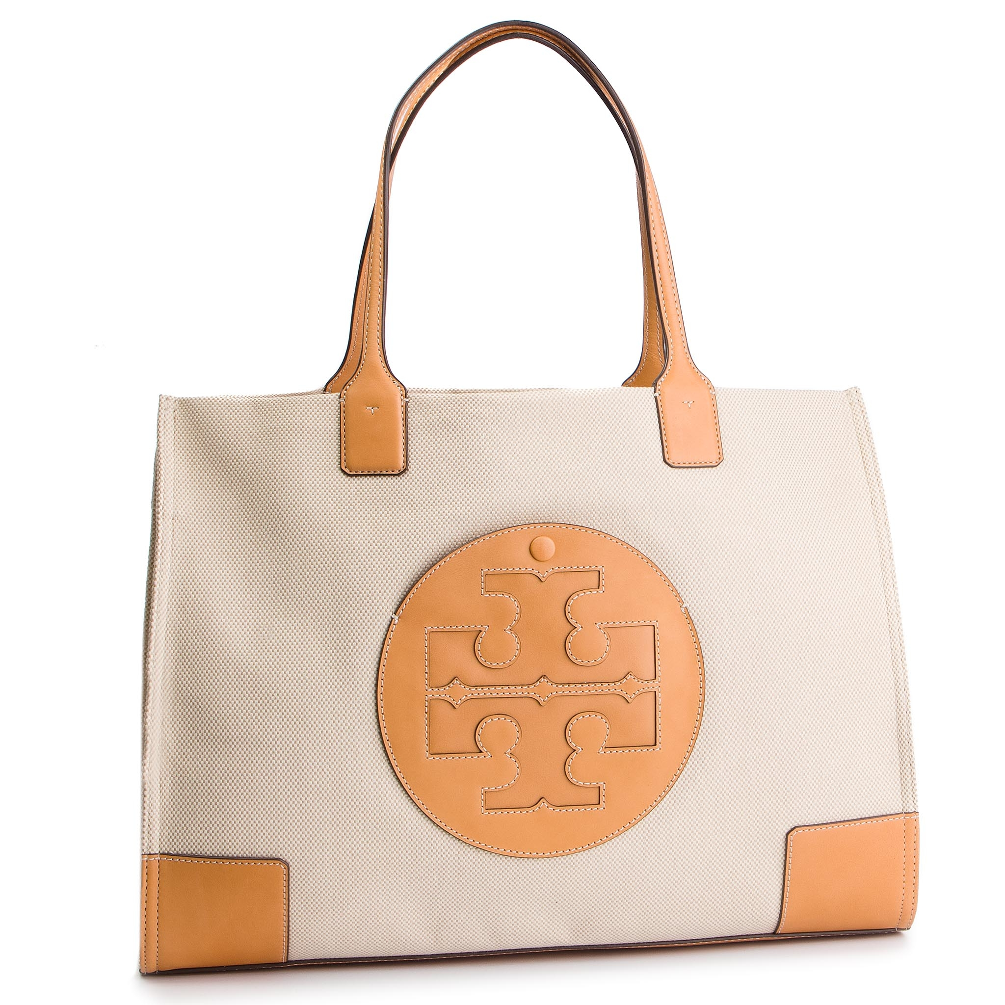 79c6e38a813ea Handbag TORY BURCH. Robinson Small Double-Zip Tote 46331 Pale Apricot Royal  ...