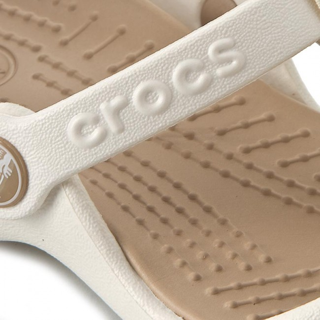 89bf6ee92cbe Slides CROCS - Cleo III Women 11216 Oyster Gold - Casual mules ...