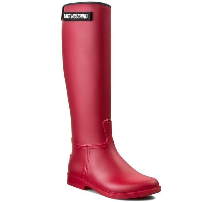 Love Moschino RAIN BOOT - Wellies - rosso