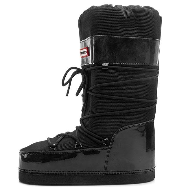 e10720fc58b92 Snow Boots HUNTER - Chatel Gloss W24346 Black - Winter boots - High ...