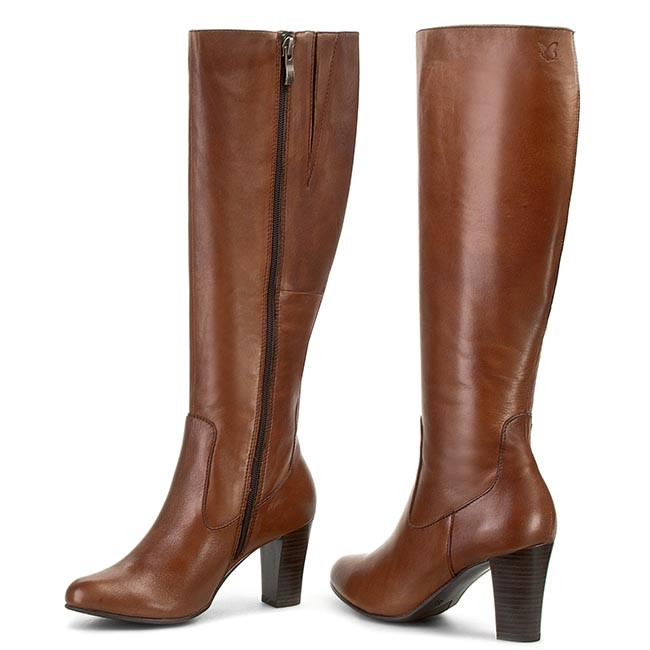 Knee High Boots CAPRICE - 9-25504-25 Cognac 305 - Jackboots - High ...