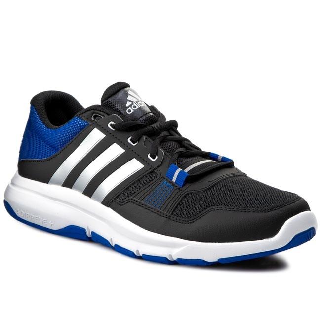 Zapatos adidas Gym guerrero 2 b23609 negro / Silver / AZUL Fitness