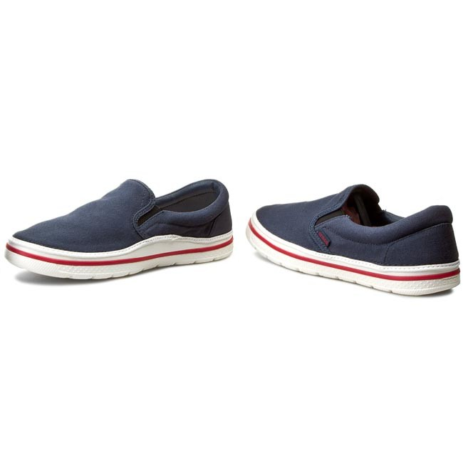 b963e808b2f50e Plimsolls CROCS - Norlin Slip-On M 201084 Navy White - Casual - Low ...