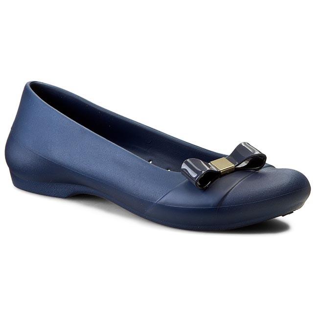 162bcb4d0837 Flats CROCS - Gianna Bow Flat 200871 Navy Navy - Ballerina shoes ...