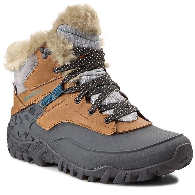 Trekker Boots MERRELL - Fluorecein Shell 6 Wtpf J32646 Brown Sugar