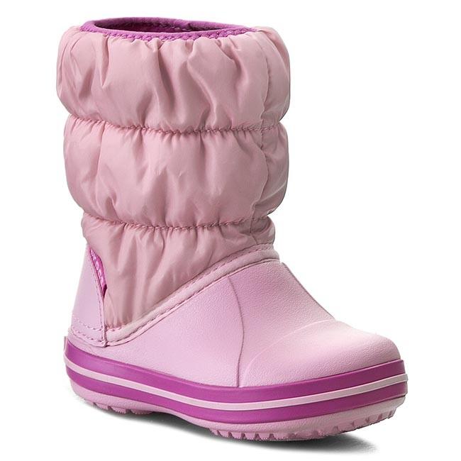 3232082cc8a75a Snow Boots CROCS - Winter Puff Boot Kids 14613 Ballerina Pink Wild Orchid