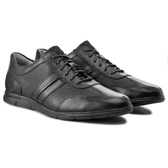 Shoes CLARKS Denner Race 203575357 Black Leather ePLMS