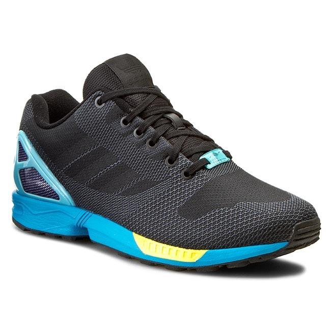 Adidas Originals Originals Zx Flux Cblack Cblack Ltaqua