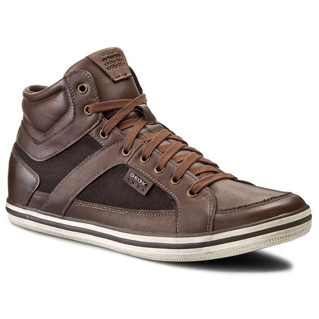 Mens U Box E High Sneaker, Grey Geox
